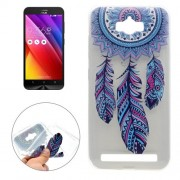 For ASUS ZenFone Max / ZC550KL Windmill Pattern Transparent Soft TPU Protective Back Cover Case