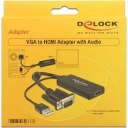 HDMI minijack 3,5 mm D-Sub (VGA), 0,25, negru (62668)