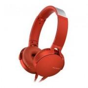 Sony Słuchawki nauszne MDR-XB550APR z mikrofonem Czerwony