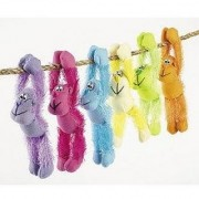 Fun Express Plush Neon Long Armed Gorillas Party Favors - 12 Pieces