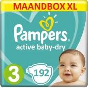 Pampers Active Baby Dry Luiers - Maat 3 – 192 stuks