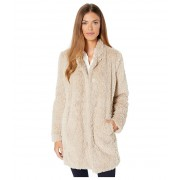 Kenneth Cole New York Stand Collar w Faux Fur Ivory