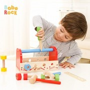 BabeRock Fix It Kid's Wooden Tool Box and Accessory Play Set