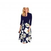 Vestido Casual Fashion-cool Azul Floral