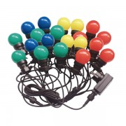 CATENA PARTY 10W 20 LAMPADE LED MULTICOLORE 10 METRI IP44 VT-71020-LED7438