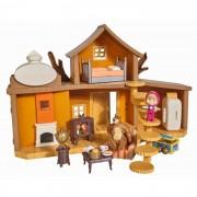 Casuta ursului cu 2 etaje, figurine cu functiuni Masha si Ursul