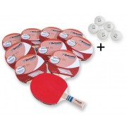 Betzold Jubiläum 50 Betzold Jubiläums Tischtennisschläger Smash, 10er-Set + 5 Bälle GRATIS
