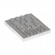 Trodat Textplatte für Trodat Printy 4924 - 40 x 40 mm - 8 Zeilen inkl. Ersatzkissen