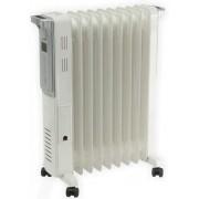 Calorifer electric cu ulei Home FKO9LCD, 2200 W, 9 elementi, 3 trepte de putere, Afisaj digital (Alb)