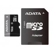 Micro Secure Digital Card Adata, AUSDH16GUICL10-RA1, 16Gb, Clasa 10, cu adaptor SD,Gri