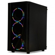 Carcasa pentru PC de jocuri , Ibox , Wizard 3 , negru