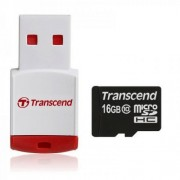 Carte microsdhc transcend classe 10 16gb + lecteur usb offert compatible Wiko Ridge 4g