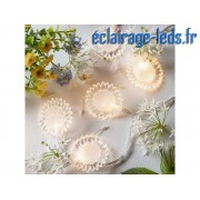 Guirlande lumineuse LED 2.85M 20 fleurs blanc chaud. ref gl-05