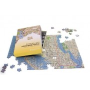 Personalized 'My Hometown' Map Jigsaw Puzzle (US Delorme mapping)