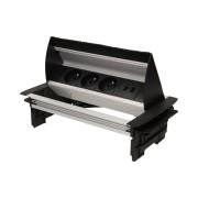 Einbau-Steckdose in der Tischplatte ORNO OR-AE-1362 3x250V AC mit Staubschutzbürste USB-Ladegerät und 1,8m Kabel zur Montage in Schreibtischen