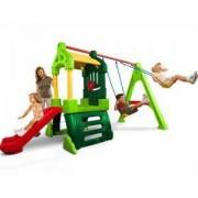 Комбиниран център за игра - Люлка, пързалка и къща - Little Tikes, 320093