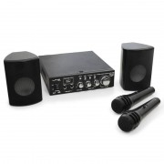 LTC Set PA Star-2 altavoces, amplif y micros 2x50 W. USB, MP3 (BD-KARAOKE-STAR2)