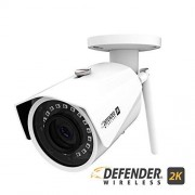 Defender 2K (4Mp) Wireless Wide Angle, Night Vision IP Camera with Remote Mobile Viewing and No Monthly Fees