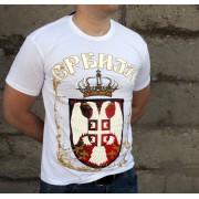Majica Srbija Bela