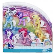 Set figurine My Little Pony cu coama curcubeu