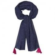 Noa Noa Miniature Halsduk Dress Blue Stickade halsdukar