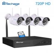 Techage 4CH 1080P Wireless NVR Wifi CCTV System Set 1MP/1.3MP/2MP Wi-fi IP Camera Outdoor Video Security DIY Kit P2P Plug&Play