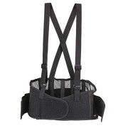 Back Brace Lumbar Support with Adjustable Suspenders, Hook-and-Loop fastener for Easy and Quick Fastening, High Quality Breathable Back Panel made with Spandex Material, Removable Straps. (Size M)