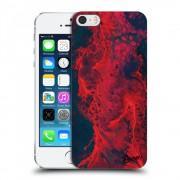 Műanyag átlátszó tok az alábbi mobiltelefonokra Apple iPhone 5/5S/SE - Organic red