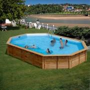 Дървен овален басейн Gre AVILA 923 x 576 x 146 cм