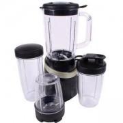 Нутри блендер MUHLER MNB-699, 500W, Кана 1 литър, 2 чаши за смути, Мелничка за кафе, лед, Черен/златист