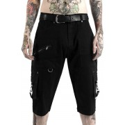 Pantaloni bărbătești scurți KILLSTAR - TWISTED CARGO - BLACK- KSRA000103