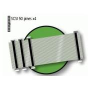 D-19612 CABLE PLANO PARA SCSI DE 50 PINES 4 CONECTORES --