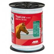 TopLine villanypásztor szalag 200m/tek, 20mm, fehér/világoskék
