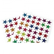 US Toy Classic Metallic Star Stickers Assorted Color