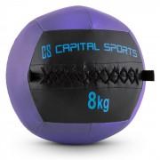 Capital Sports Wallball 8 стенна медицинска топка 8 кг изкуствена кожа лилава (FIT20-Epitomer)