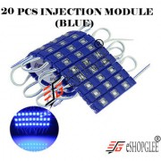 Eshopglee 3 LED DC 12V Waterproof Injection Led Modules Light 5630/5730 SMD - 20 Module (Blue) + Free 12v Dc Adaptor