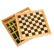 Fa sakk, malom, dáma készlet