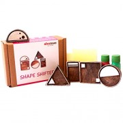 Shumee Wooden Shape Shifter Stamp Set - set of 5 shape stamps - activity toy for toddlers
