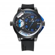 Weide universo dual de la serie de zonas horarias del reloj del calendario Militar (Azul)