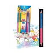 Creioane colorate bicolore, 6 buc/set CARIOCA Jumbo