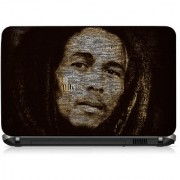 VI Collections Bob Marley Face Text Edit Printed Vinyl Laptop Decal 15.5