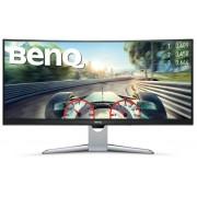 """Monitor VA LED Gaming BenQ 35"""" EX3501R, UWQHD (3440 x 1440), HDMI, DisplayPort, Ecran curbat, 4 ms (Negru/Argintiu)"""