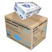 SFM Hospital Products GmbH SFM ® BIOLIMES : XS Latexhandschuhe gepudert glatt weiß (1000)