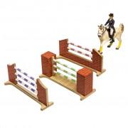 Kids Globe Farm Three Piece Horse Jump Set 1:24 610119