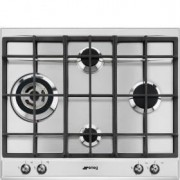 Smeg 60cm Classic Gas Hob, Stainless Steel - P361XGHL
