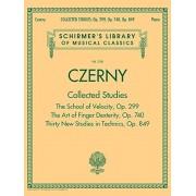 Czerny: Collected Studies - Op. 299, Op. 740, Op. 849: Schirmer's Library of Musical Classics Volume 2108, Paperback