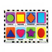 Melissa & Doug - Puzzle lemn in relief Forme geometrice