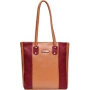 Fristo Shoulder Bag(Tan, Maroon)