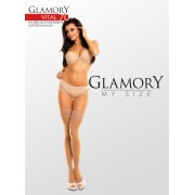 Glamory - Opaque plus size support hold ups Vital 70