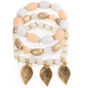 Om Jewells Stylish Multi Layer Charms Bracelet made with Exotic Beads for Girls and Women BR1000018WHT